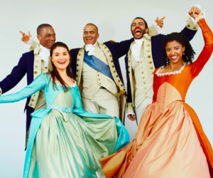 hamilton, broadway, and renee elise goldsberry image