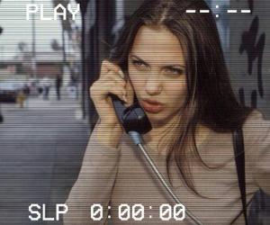 Angelina Jolie and grunge image