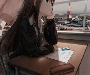 anime, edit, and girl image