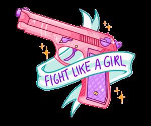 wallpaper, pink, and gun image