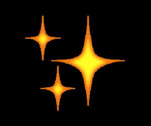 emoji, overlay, and stars image