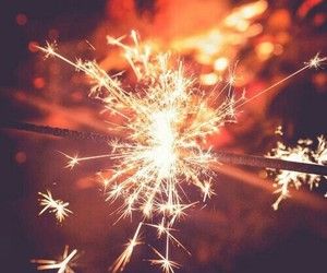light, christmas, and fireworks image
