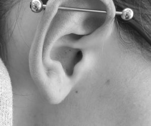 ear, industrial, and piercing image