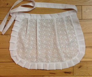 etsy, white ruffled apron, and gift basket idea image