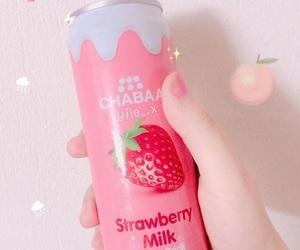 kawaii, pink, and strawberry image