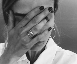 girl, nails, and model image