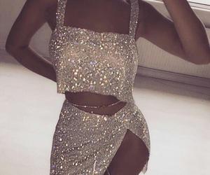 fashion, dress, and sparkle image