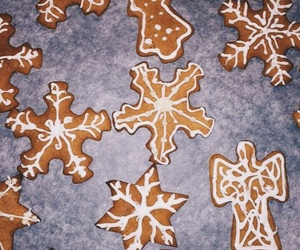 angel, snow, and baking image