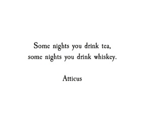 quotes, tea, and atticus image