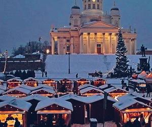 christmas, finland, and helsinki image