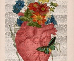 heart, art, and flowers image