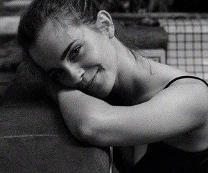 emma watson, black and white, and actress image