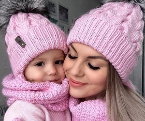 pink, baby, and family image