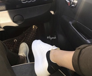 Alexander McQueen, shoes sneakers, and luxury nude image