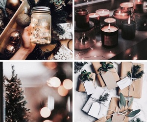 aesthetic, candles, and tree image