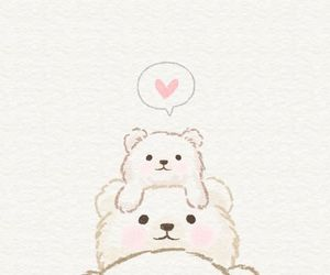 wallpaper, bear, and cute image