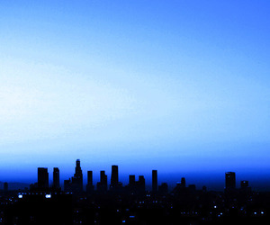 blue and city image