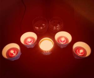 candles, red, and snowflake image