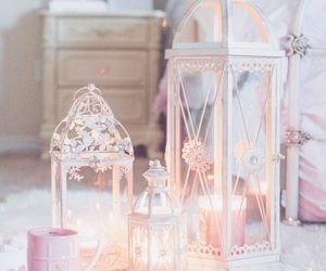 pink, candle, and pastel image