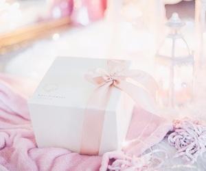 pink, christmas, and gift image