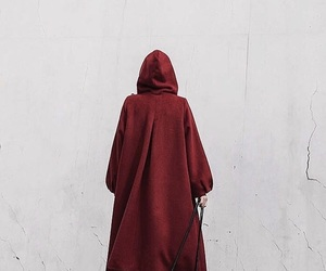 coat, fashion, and red image