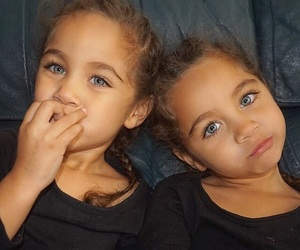 twins, baby, and beauty image
