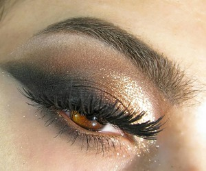 beauty, eyeliner, and gold image