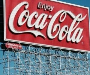 coca cola, retro, and red image