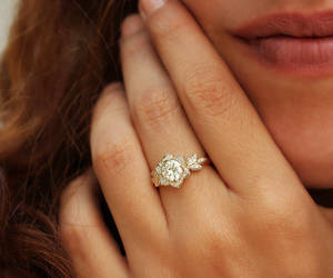 diamond ring, etsy, and gold jewelry image