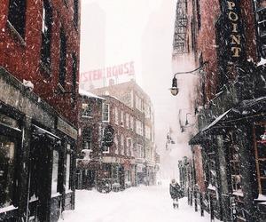 snow, christmas, and city image