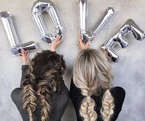 love, hair, and friends image