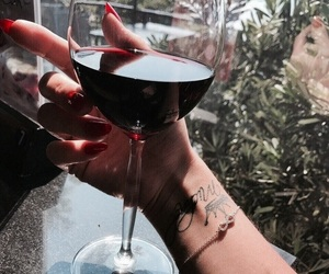 indie, nails, and wine image