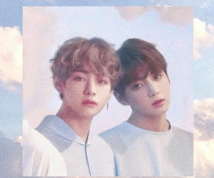 sky, bts, and taekook image