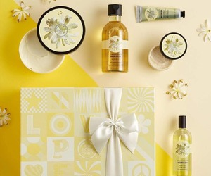 beauty, products, and yellow image