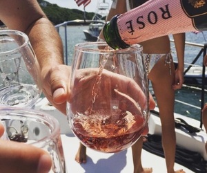 drink, rose, and summer image