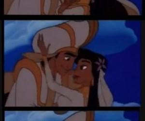 aladdin, couples, and disney image