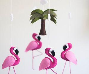 diy, fieltro, and flamingos image