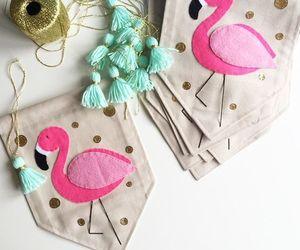 fiesta, verano, and flamingos image