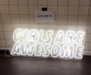 girl, awesome, and neon image