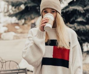 beauty, girl, and winter image