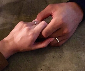 couple, pretty, and hand image