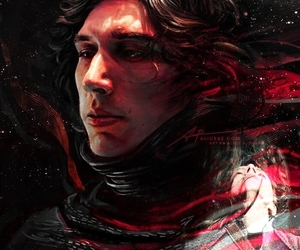 force, kylo ren, and rey image