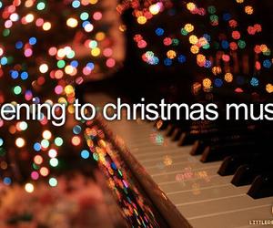 christmas, music, and lights image