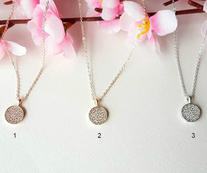 crystal necklace, wedding jewelry, and cubic zirconia image