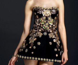 black, Couture, and sequins image