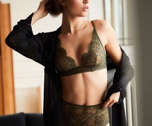 brune, lingerie, and mode image