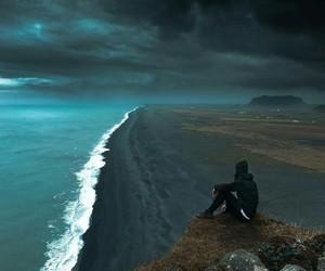 coast, coastline, and cold image
