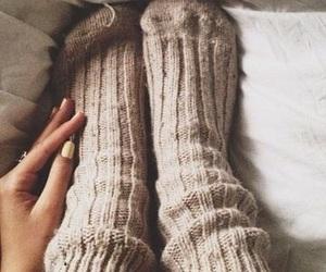 autumn, socks, and fall image