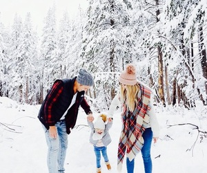 family, snow, and gosls image