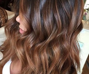 beauty, brown, and hair image